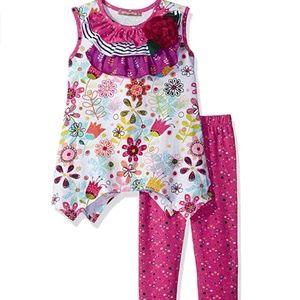 Jelly the Pug Girls' Little Tulip Julia Knit Set